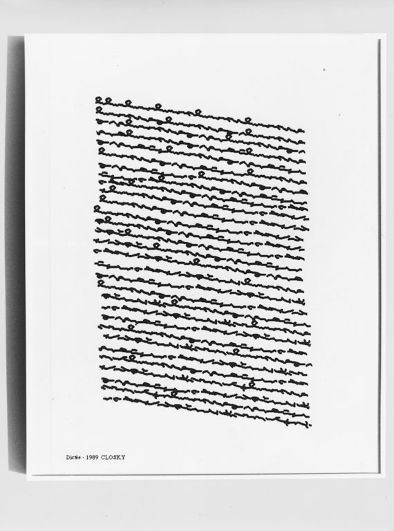 Claude Closky, 'Dictée [Dictation]', 1989, laser print on paper, 29,7 x 21 cm.